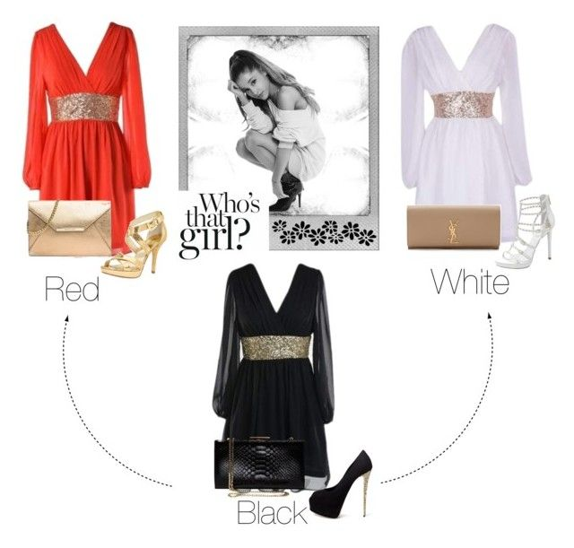 """""""Which one are you?"""" by rnr210209 on Polyvore featuring Polaroid, Giuseppe Zanotti, MICHAEL Michael Kors, Vince Camuto, Yves Saint Laurent, Salvatore Ferragamo, dresses and 29underdresses"""