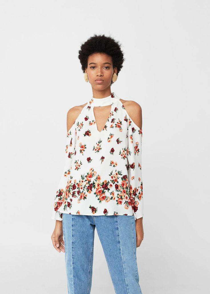 Έξωμη μπλούζα ριχτή | MANGO ΜΑΝΓΚΟ