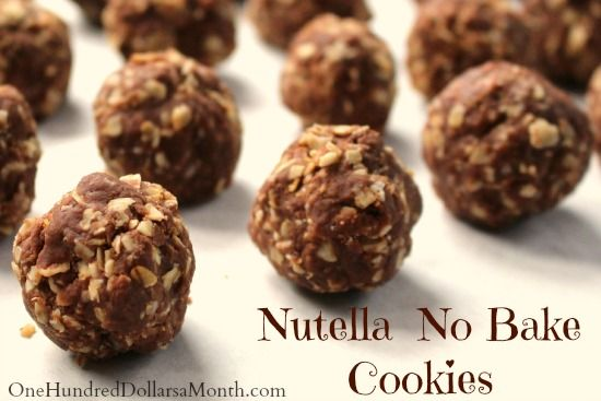 Nutella No Bake Cookies: No Bake Cookies, Cookies Foodstorag, 1 2 Cups ...