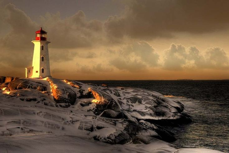 Peggy Lighthouse. Canada by Dana Prost.  Beautiful place I would someday like to visit.