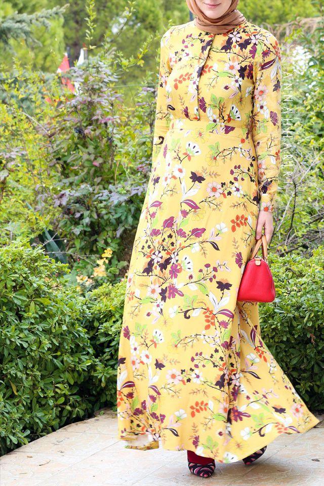 Autumn Flower Dress | Islamic clothes online