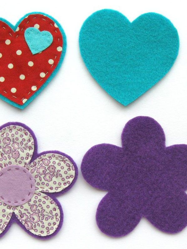 How to make felt and fabric brooches