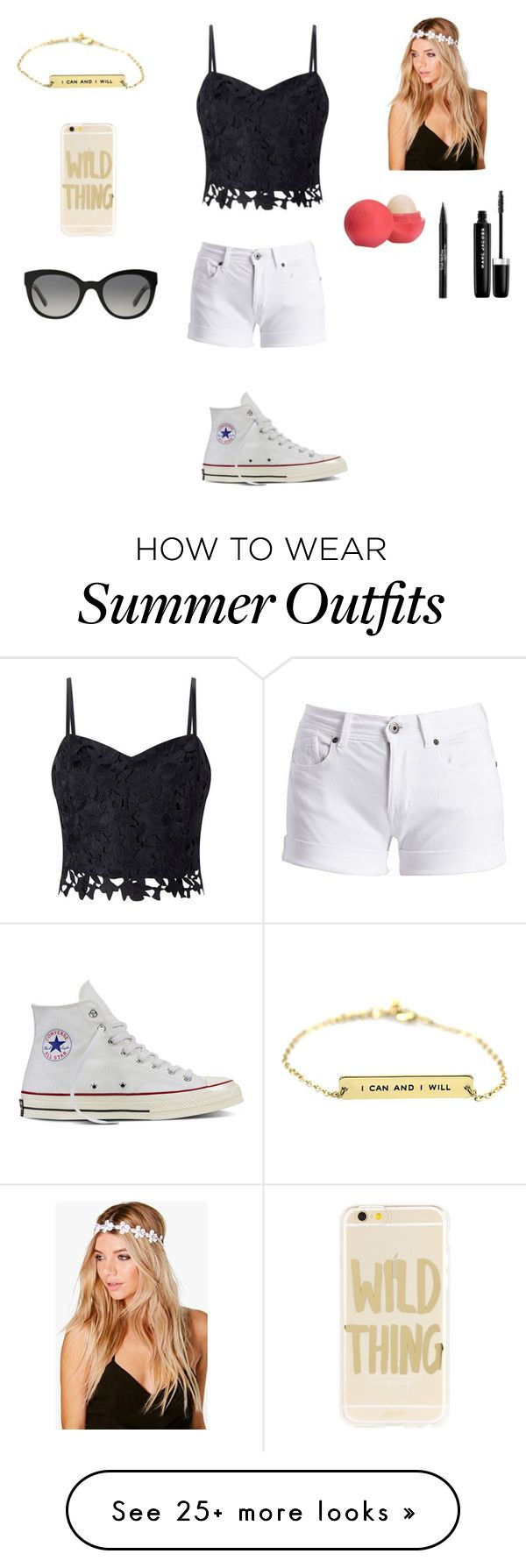 """Summer outfit"" by stuff4mm on Polyvore featuring Lipsy, Barbour International, Converse, Boohoo, Sonix, Burberry, Eos, Trish McEvoy and Marc Jacobs"
