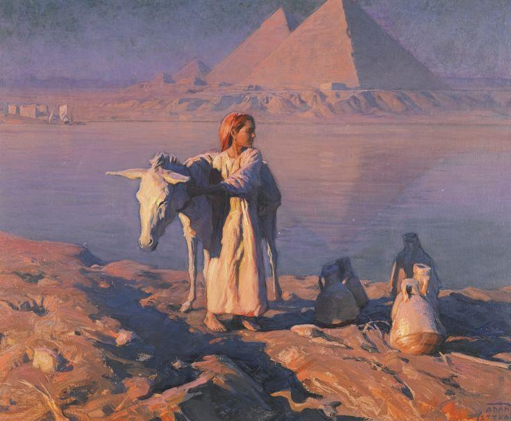 On the Banks of the Nile - Adam Styka