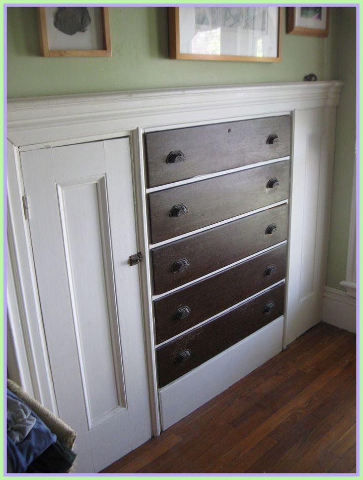 diy built in closet dresser