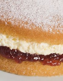 Mary Berry's simple Victoria sponge is perfect with The Mercers Strawberry Conserve.
