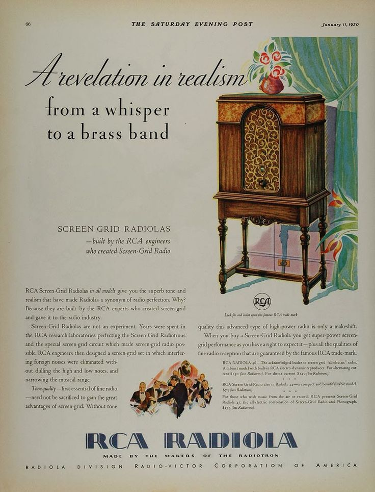 1930 Vintage Ad RCA Screen
