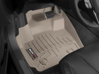 WeatherTech 2001-2003 Chevy Silverado 3500 2500 1500/ 2002-2006 Chevy Avalanch 2500 1500 Front and Rear Floorliners - Tan (w/2nd Row Bucket Seating)