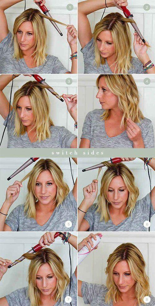 Curl Short Hair Curling Iron Tutorials How To Hacks Hair