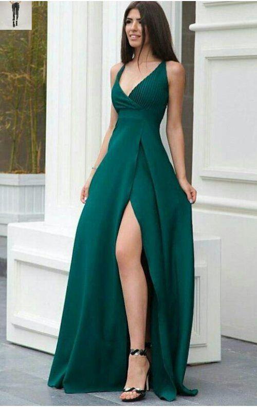 7b9fe3ada3579 Yeşil Elbise | Elbise modelleri in 2019 | Elbiseler, Balo elbise ...