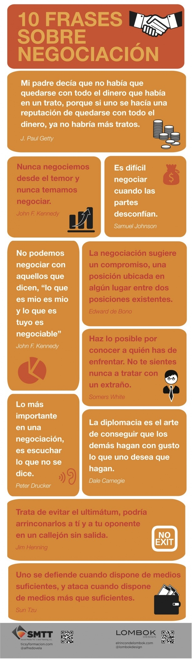 10 frases sobre negociacion #marketing #infografia #infographics