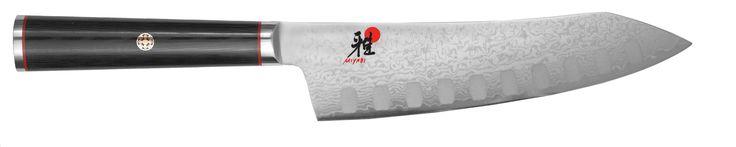 """Miyabi Kaizen Hollow Edge 7"""" Rocking Santoku Knife"""