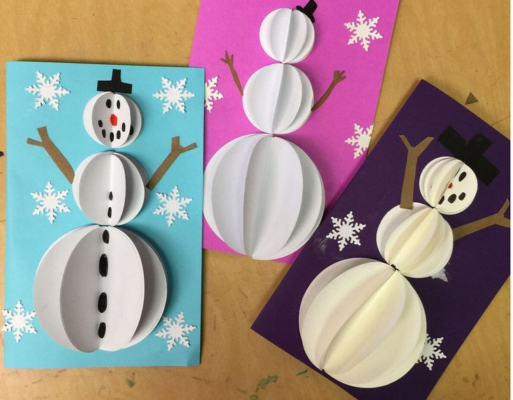 Snowman Pop Out Cards - Art Projects for Kids . These would be adorable on a wrapped package