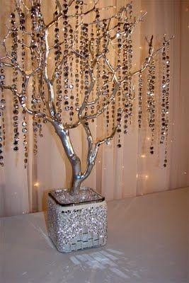 Árboles como centros de mesa