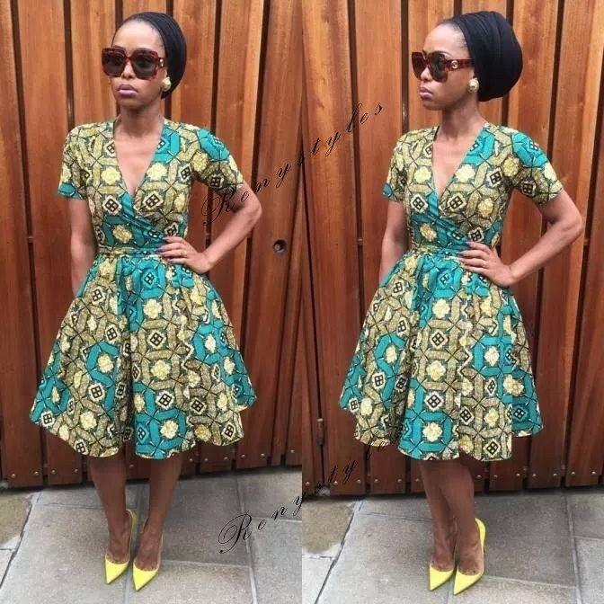 Top 20 Kitenge Fashion Short Dresses 2019 Reny Styles Kitenge Fashion African Attire African Inspired Fashion