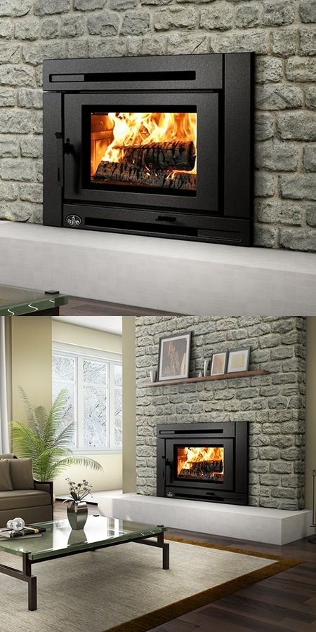 Up to 75,000 BTU output with ultra-quiet crossflow blower | Osburn Matrix Wood Stove Insert FOR MASTER BEDROOM