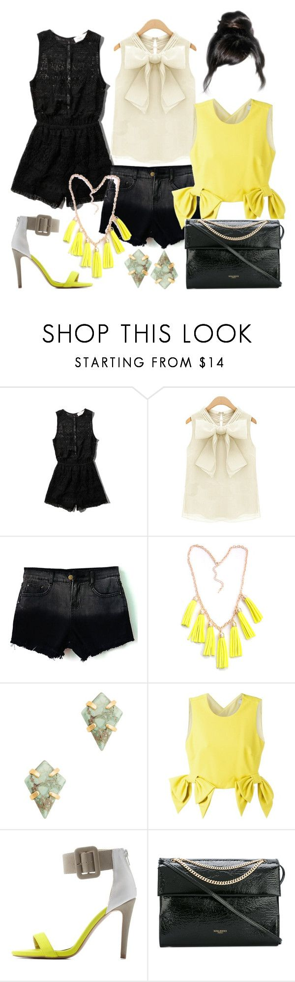 """""""black&yellow"""" by dodo85 on Polyvore featuring Abercrombie & Fitch, Sole Society, MSGM, Charlotte Russe and Nina Ricci"""