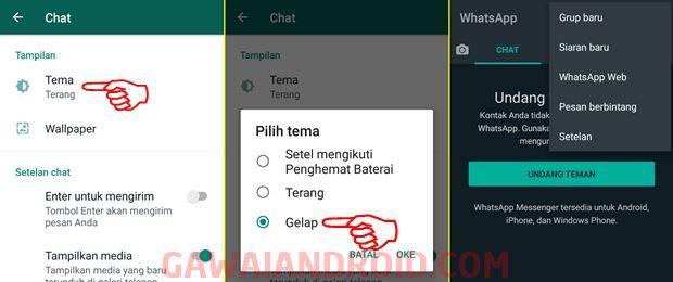 Cara Merubah Whatsapp Menjadi Mode Gelap Dark Mode Gelap Pesiar Ponsel