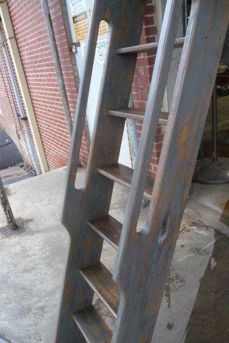 Ships Ladder for Loft/Library/Attic - Reclaimed Oak - 85% Grey Pickled Finish