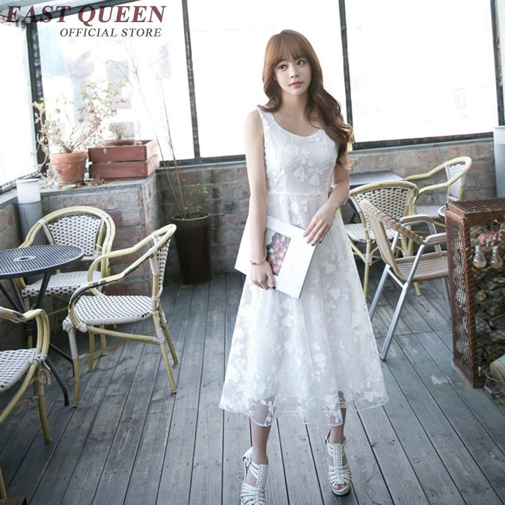 White lace sundress new summer style sundresses for women woman summer beach dress with lace white lace dress  AA1843