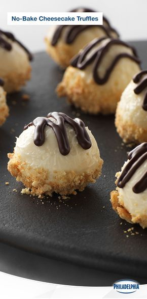 These easy-to-make treats are the perfect bite-sized dessert to finish off your meal. Or any time, really. Try our No-Bake Cheesecake Truffles.