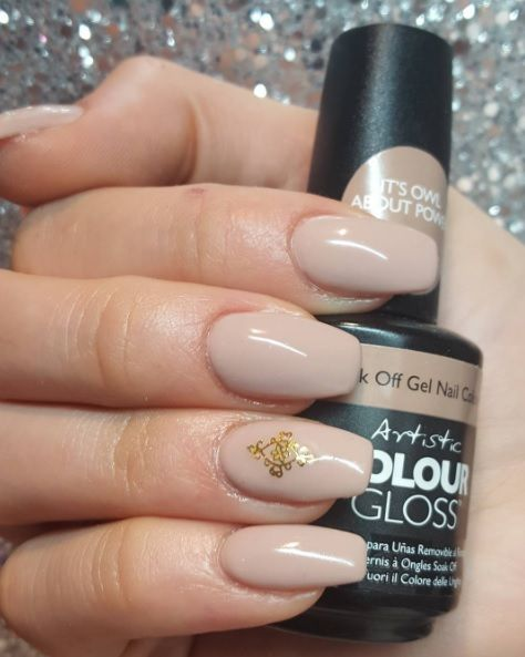 Nude Nails using Artistic Colour Gloss It's Owl About Power available at Louella Belle #ArtisticColourGloss #Nude #NudeNails #NailArt #Nails #Manicure #LouellaBelle