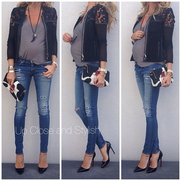 I will dress like this my next pregnancy! Hopefully because I have a career! (: