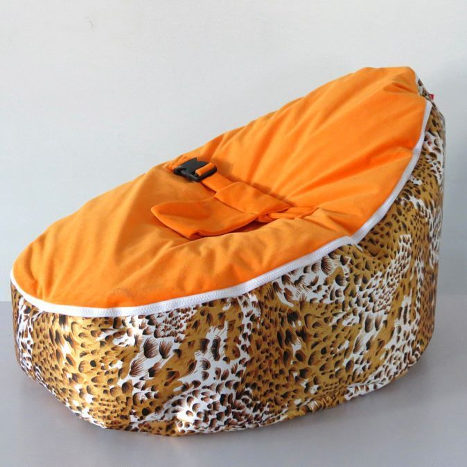 Yellow Leopard Baby Bean Bag Doomoo Beanbag Child Sleeping Sofa BeanBed Unfilled In Nursery Furniture Rockers Gliders