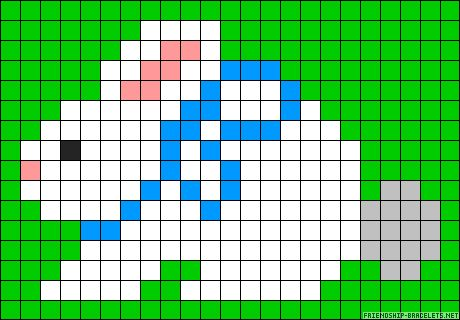 Easter bunny perler bead pattern