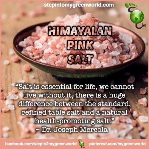 ☛ Do YOU use Himalayan Pink salt?  FOR ALL YOU NEED TO KNOW ABOUT HIMALAYAN PINK SALT:  http://www.stepintomygreenworld.com/healthyliving/greenfoods/pure-salt-is-good-for-you/  ✒ Share | Like | Re-pin | Comment