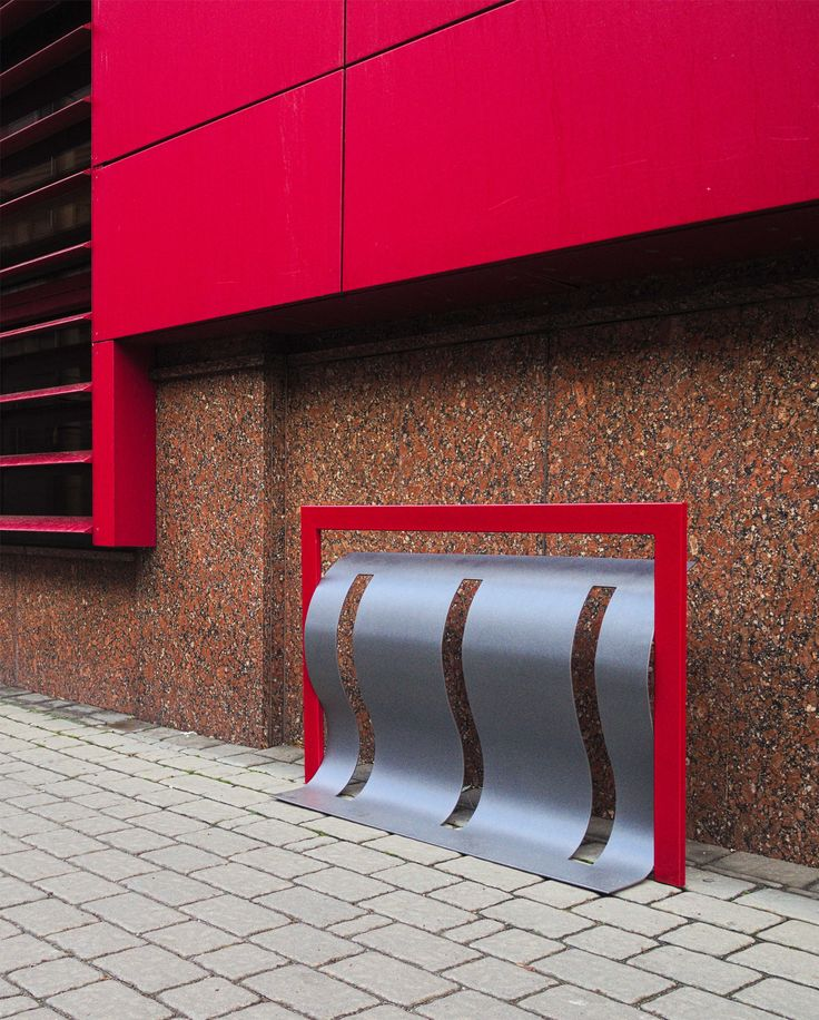 Modern bicycle racks by NOTEN - unique design and variety of available colours. See more of our bike racks on www.notendesign.pl/products/bicycle-racks