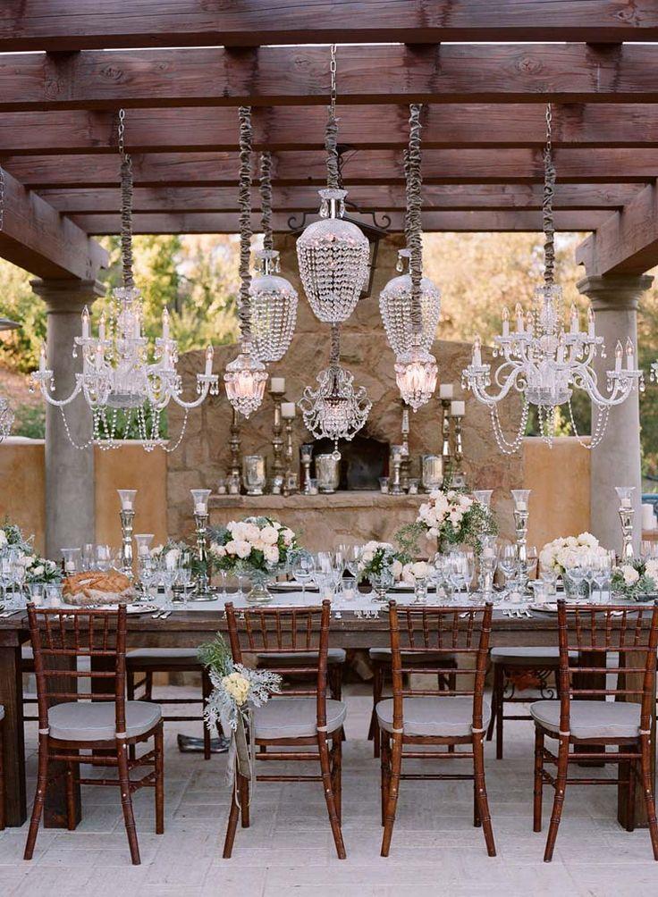 Tablescape   chandeliers Gorgeous Vintage Wedding Inspiration  #Wedding