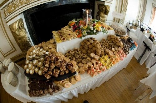 Move over candy buffet! It's a cookie table!! Now I'm seriously thinking about kicking out the cake bar idea at me wedding. This is so cool!