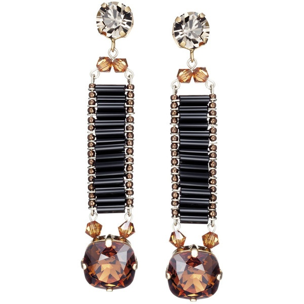 Caleidoscópio Ouro Preto Earrings ($150) ❤ liked on Polyvore