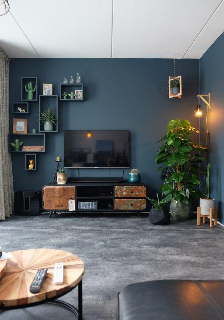 Industriële Tv Kast En Veel Planten Onze Woonkamer Inge