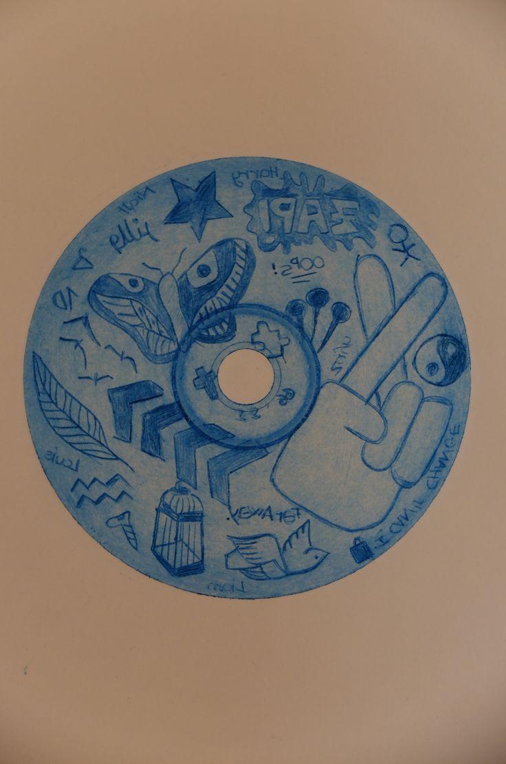 Plancha de grabado sobre un CD