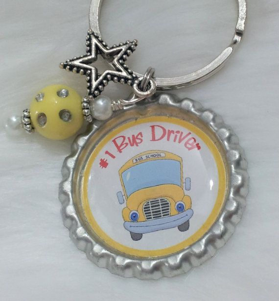 Bus Driver Keychain Bus Driver Gift School Bus Driver by HAZELCOVE, $10.00