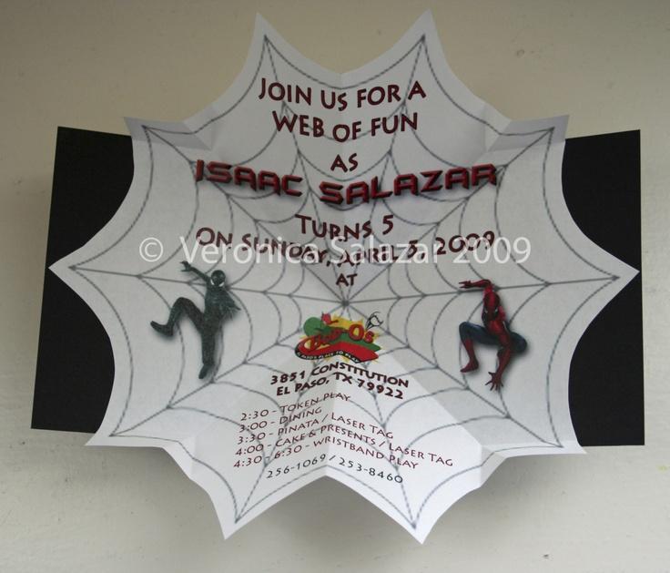 Unique Pop Up Spiderman Invitations Boy Birthday Invites