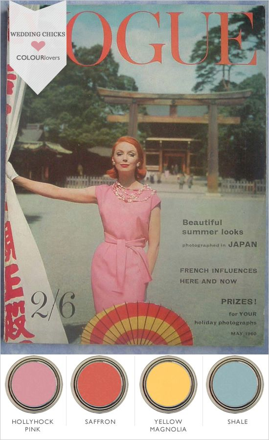 vogue 1960 colors and inspiration
