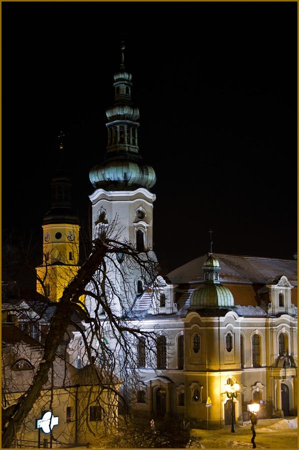 Pictografio: Pszczyna nocą / Pszczyna by night