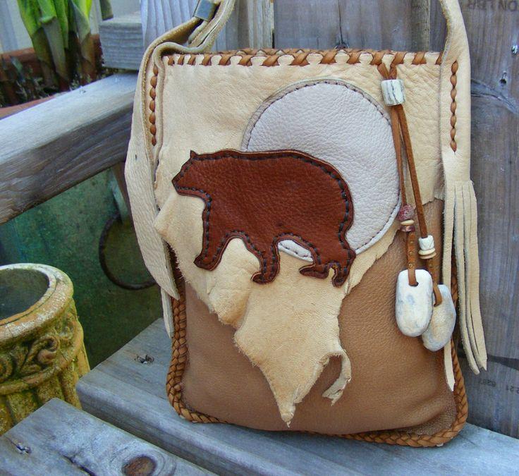 BEAR MEDICINE Elkskin Leather PURSE medicine bag / spirit pouch with Deer Antler. $178.00, via Etsy.