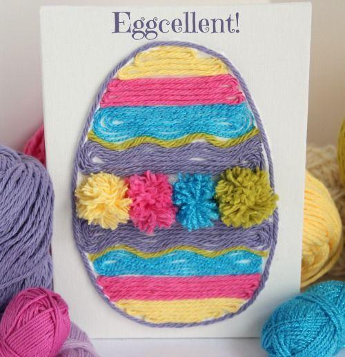Easter Egg Yarn Art  - Repinned by Totetude.com