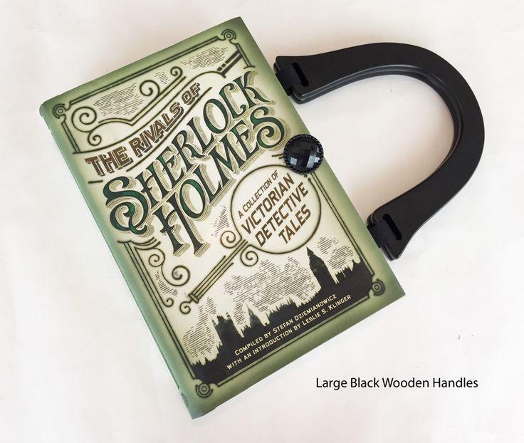 Sherlock Holmes Book Purse - Sherlock Book Cover Handbag - Detective Book Clutch - Steampunk Handbag by NovelCreations on Etsy https://www.etsy.com/listing/238840945/sherlock-holmes-book-purse-sherlock-book