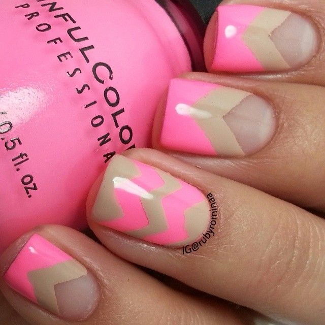 772 best nails color blockinggeometric images on pinterest instagram photo by rubyrominaa nail nails nailart prinsesfo Image collections