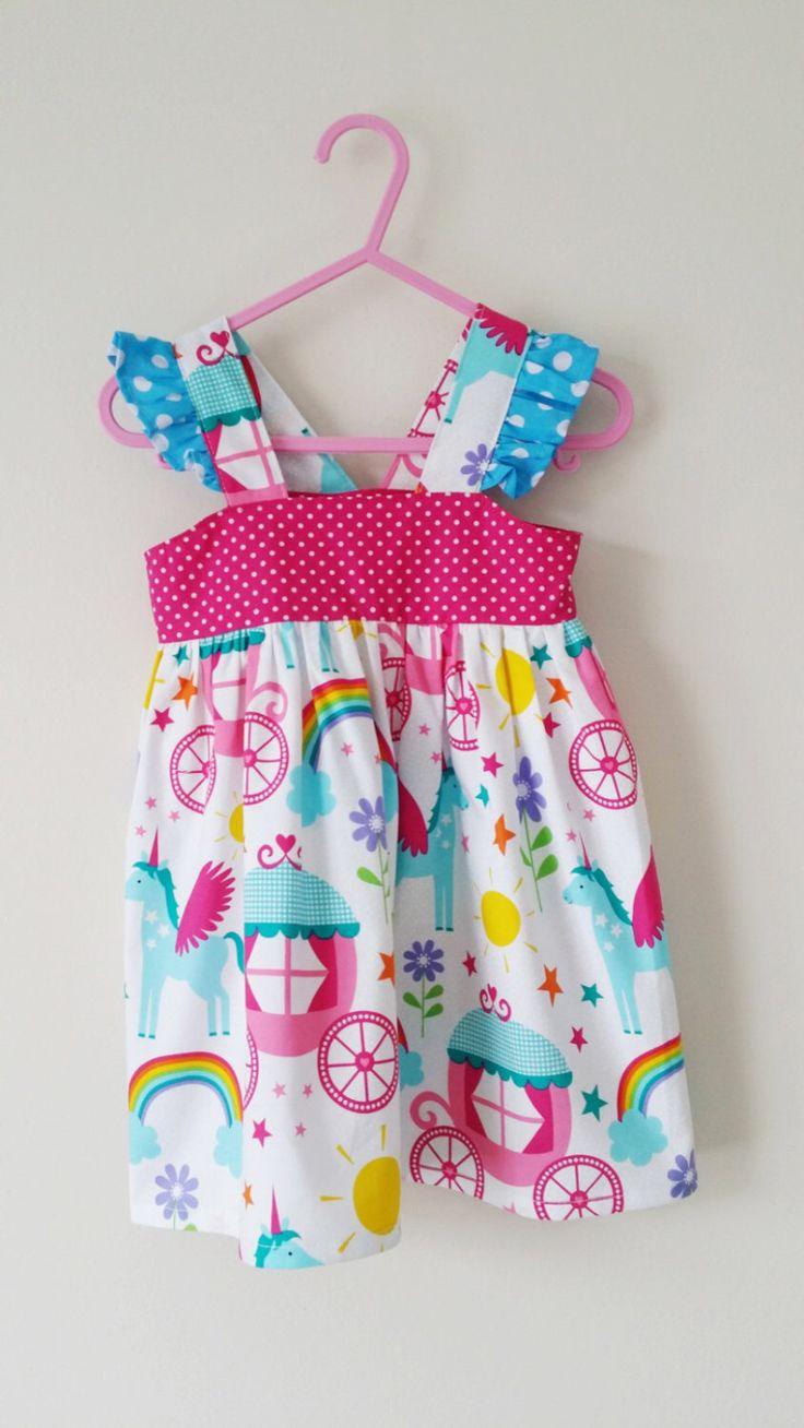 Unicorn dress, rainbow dress, unicorn party, summer clothes, kids clothing, uk by JackandRoseCrafts on Etsy https://www.etsy.com/listing/399979437/unicorn-dress-rainbow-dress-unicorn