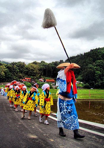 Matsuri village,  rice planting festival