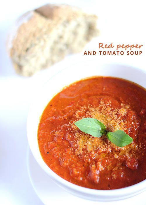 Red peppers and tomato soup