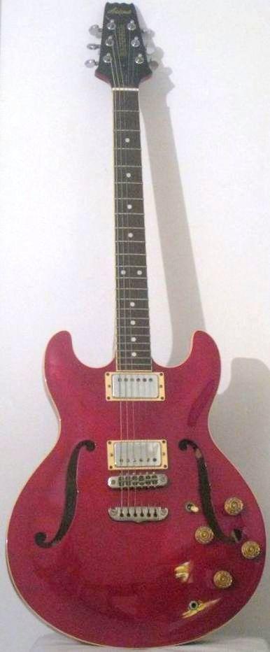 [ƒrettedchordophone 2015] Aria Pro II Semi Acoustic Guitar  --- https://www.pinterest.com/lardyfatboy/