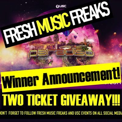 TICKET GIVEAWAY | PARADISO WINNER ANNOUNCEMENT!       (adsbygoogle = window.adsbygoogle || []).push();  ParadisoFestival is now three weekends away and Fresh Music Freaks couldn't be more excited for the upcoming experience. Paradiso by USC Events, June 23rdand 24th, 2017. This event is held just 2 hours east of Seattle, Washington...
