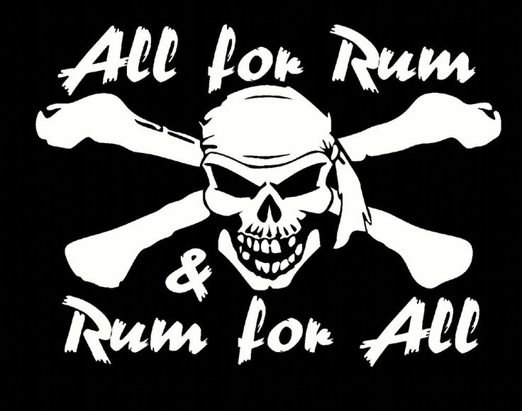 all for rum and rum for all funny novelty t shirt captain morgan s to 4x pirate #Hanes #ShortSleeve